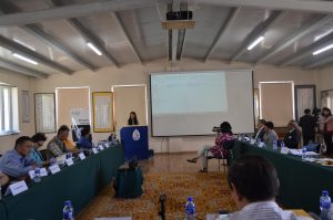 Prof. Li Narangoa opening the proceedings during the One Health workshop. Photo: Itgel Chuluunbaatar.