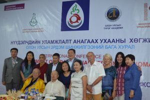 A banquet after the International Mongolian Traditional Medicine Conference and One Health Workshop.